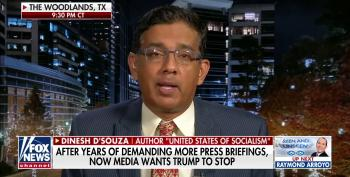 Dinesh D'Souza Suggests COVID-19 Is 'Mostly In Blue States'