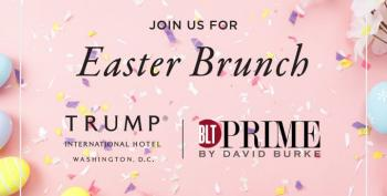 Trump's 'Easter' Schedule Is All About The Brunch Money