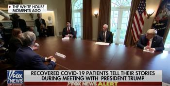Trump Tells Pandemic Survivor, 'Stay Away! Keep Her Away!'