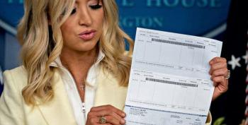 Kayleigh McEnany Inadvertently Reveals Trump's Bank Details