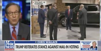 Chris Wallace Completely Debunks Bogus Mail-In Voter Fraud Claims