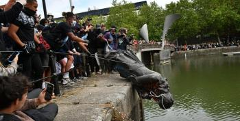 BLM Protesters Topple Statue Of Slave Trader Edward Colston In Bristol, England