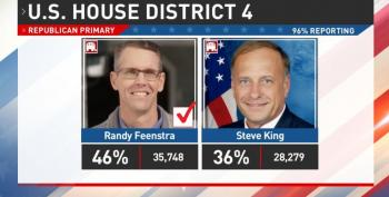 Steve King Goes Down In Flames