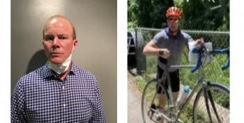 Bethesda Cyclist Filmed Assaulting 'Young Adults' Hanging BLM Signs In Bethesda Charged