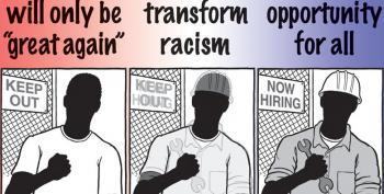 Cartoon:  Racism Vs. Opportunity
