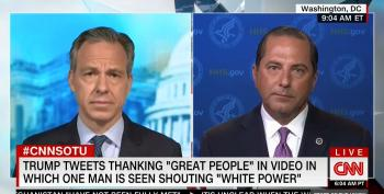 HHS Secretary Cowers When Asked To Defend Trump's 'White Power!' Retweet
