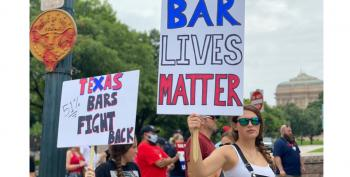 'Bar Lives Matter' Protest In Response To Gov. Abbott's Shutdown Order Draws Jeers