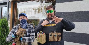 Armed Men Roam Small-Town Streets To Ward Off Non-Existent 'Antifa Buses'