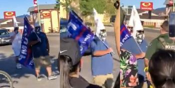 Trump Fans In KKK Hoods Attempt To March At Black Lives Matter Event In Nevada