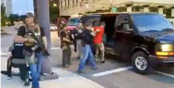 Protester Abducted By Columbus 'Paramilitary' Police With Assault Weapons, Driven Off In Van