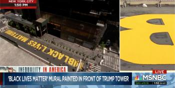 Black Lives Matter Mural Now Complete In Front Of Trump Tower