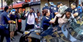 New York City Police Tackle And Taser Black BLM Protester Who Shouted At Officer