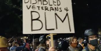 'Wall Of Vets' Joins Portland Moms To Stand Against DHS Tyranny