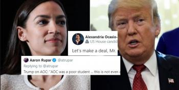 AOC's Challenge For Trump To Compare College Transcripts Goes Viral