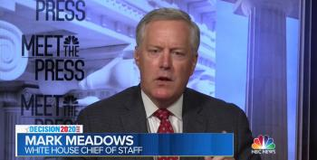 Mark Meadows Repeatedly Refuses To Say Trump Should Tamp Down Racial Tensions