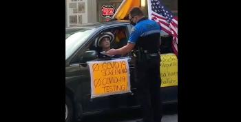 COVIDIOT Gets Upset When She Gets A Ticket For Obscuring Her Car Window