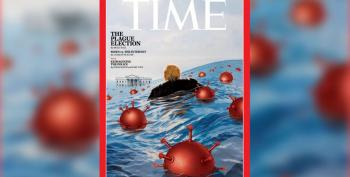 'Time' Cover Shows Trump Struggling To Stay Afloat In Time Of COVID