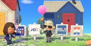 It's On!  Biden-Harris Signs Appear In Nintendo's 'Animal Crossing'