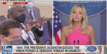Kayleigh McEnany Lies After Revelation Trump Purposefully Downplayed Severity Of COVID19