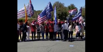 MAGA Nutjobs Block Entrance To Voting Site In Fairfax, Virginia