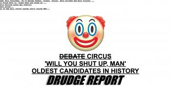 Drudge Report Correctly Frames Debate As A 'Circus'
