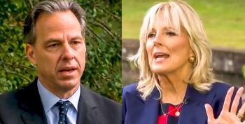 Jill Biden Derails Jake Tapper's 'Gaffe Question: 'You Can't Even Go There After Donald Trump'