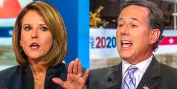Rick Santorum Interrupts Woman To Mansplain Pence's Interruptions Of Kamala Harris