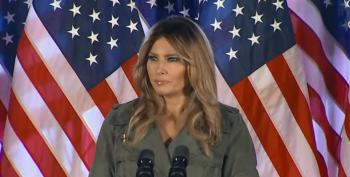 Desperate Trump Campaign Trots Out Melania To Make Partisan Attacks