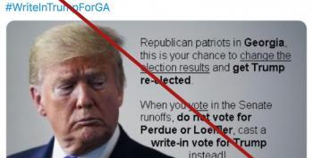 Parler Is Censoring 'Write In Trump For GA' Effort? Say It Ain't So!