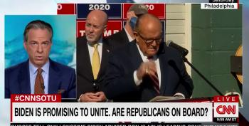 Jake Tapper Slams GOP For Sticking With Trump And Giuliani: 'Good Luck With That'