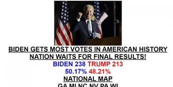 Drudge Report: Joe Biden Gets Most Votes In American History