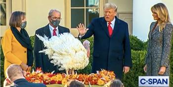 Trump Ducks The Big Question At Turkey Pardon: 'Will You Be Interested In A Pardon For Yourself?'