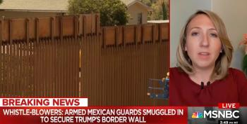 Trump's Border Wall Guarded By Armed Mexicans Smuggled Into U.S.