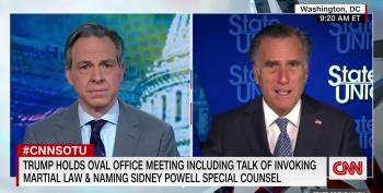 Romney Calls Trump's Coup Attempt 'Sad' And 'Embarrassing,' But Refuses To Do Anything About It