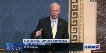 Ron Johnson Dons His Grinch Costume To Block COVID Relief Bills