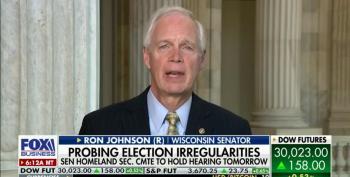 Ron Johnson Admits Biden Won Legitimately... But Voter Fraud!
