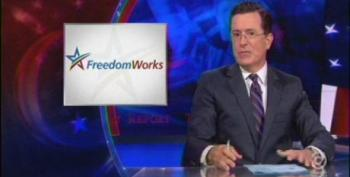 Colbert Goes After FreedomWorks For Call To Burn 'Obamacare Cards'