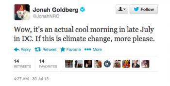 Stupid Right-Wing Tweets: Jonah Goldberg Edition