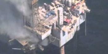 Fire Breaks Out On Evacuated Gulf Gas Well