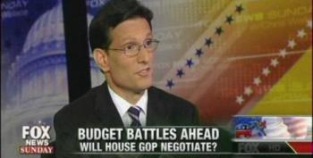 Cantor: Republicans Will 'Compromise' On Sequester Cuts In Exchange For Gutting Safety Nets