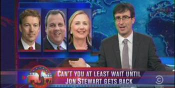 John Oliver Begs Trump To Get Into 2016 Presidential Primary