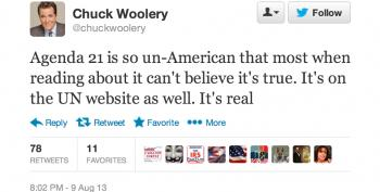 Stupid Right-Wing Tweets: Chuck Woolery Edition