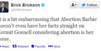 Erick Erickson Calls Sen. Wendy Davis An 'Abortion Barbie'