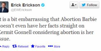 Erick Erickson Calls Sen. Wendy Davis An 'Abortion Barbie'
