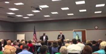 Crowd Calls 'Bullsh*t!' On GOP Congressman's Obamacare Lies