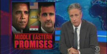 Jon Stewart Blasts Media For Having 'Case Of The Blue Bombs' On Syria