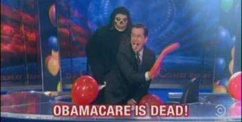 Colbert Celebrates The Death Of 'Obamacare' By Twerking With Grim Reaper