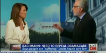 Wolf Blitzer Spars With Rep. Michele Bachmann Over 'Obamacare'