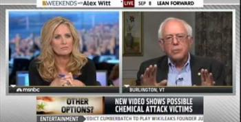 Senator Sanders On Syria: Stay Home And Address Our Serious Problems