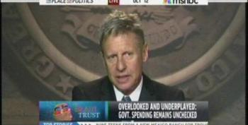 MSNBC's 'Brain Trust' Includes Wingnut Libertarian Gary Johnson
